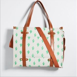Modcloth Cactus Camp Director Zipped Tote